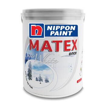 Sơn Nippon Matex Super White (18l, 4,8kg)