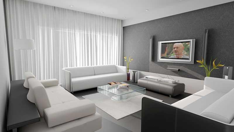 Phòng khách sử dụng sofa trắng nên chọn sơn tường màu gì?